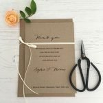 Rustic Bow Thank You Card