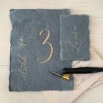 Handmade Paper Table Numbers