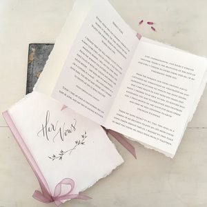 Printed Vow Books