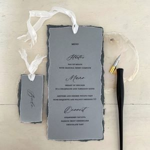 Vellum and silk menus