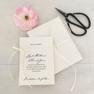 Bow Save The Date Card