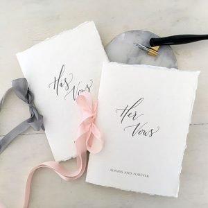 DIY Wedding Vow books